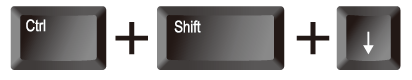 エクセル(Excel) [Ctrl]と[Shift]と矢印(↓)を押下