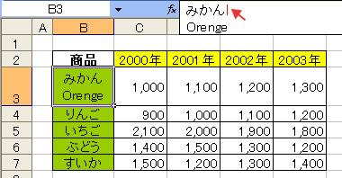 エクセル(Excel)のひとつのセル内で改行