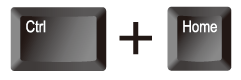 エクセル(Excel)で[Ctrl]+[Home]ボタンを押下で[A1]へ