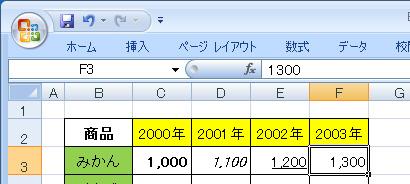 エクセル(Excel)でリボン(ツールボックス)を隠した状態