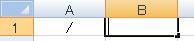 「/」は入力状態になっていればエクセル(Excel)にそのまま入力できる