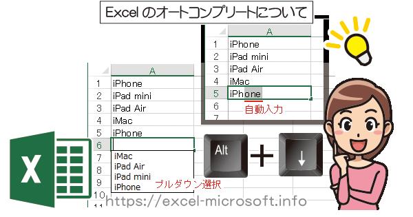 オートコンプリート機能について|Excel(エクセル)の使い方
