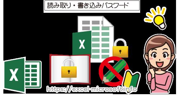 読み取り/書き込みパスワードの設定|Excel(エクセル)の使い方