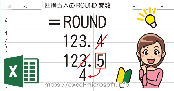 四捨五入の関数→ROUND関数|Excel(エクセル)の使い方
