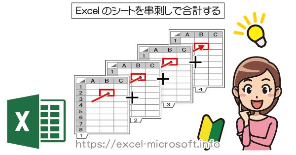 シートを串刺しで合計する|Excel(エクセル)の使い方