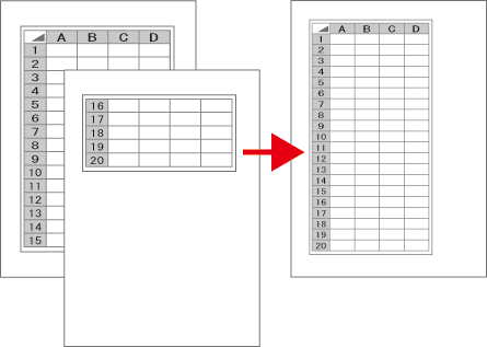 縦長資料は用紙の縦幅に合わせ印刷すれば出力ページが節約
