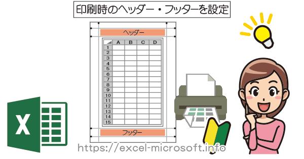印刷時のヘッダー・フッダー設定|Excel(エクセル)の使い方