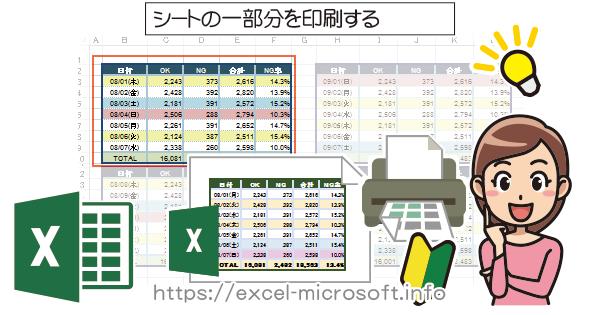 ワークシートの一部を印刷する|Excel(エクセル)の使い方